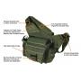 Brašna PVC-P218 UTG-Leapers Multi-functional Tactical Messenger Bag / 26x14x32cm OD Green