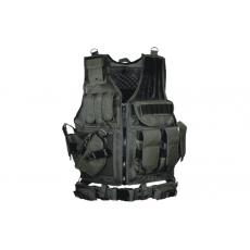 Vesta PVC-V547L UTG-Leapers Law Enforcement Tactical Vest, Left Handed Black