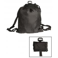 Skládací batoh MilTec Roll-Up / 21x10x6cm Black