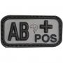 Nášivka na suchý zip AB+ Black Viper Tactical / 5x2.5cm