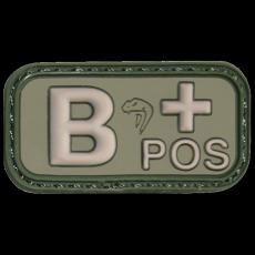 Nášivka na suchý zip B+ Green Viper Tactical / 5x2.5cm