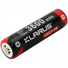 Baterie dobíjecí, chráněné Klarus 18GT-36 18650 3600mAh 3.6V 7A
