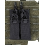 Dvojité pouzdro na zásobníky pro pistole na suchý zip MilTec (134958) Black