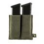 Elastická sumka MOLLE na zásobníky do pistole Viper Tactical Double Pistol Mag Plate Green