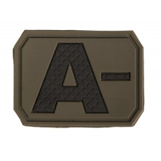 Nášivka na suchý zip MilTec A- OD Green / 3,8x2,8cm