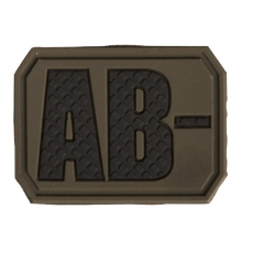 Nášivka na suchý zip MilTec AB- OD Green / 3,8x2,8cm