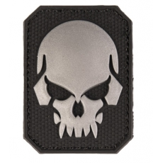 Nášivka na suchý zip MilTec SKULL Black  / 5,5x4cm