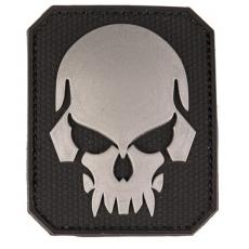 Nášivka na suchý zip MilTec SKULL Black / 8x6,5 cm
