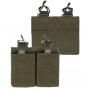 Dvojité pouzdro na zásobníky M4 na suchý zip MilTec (134962) OD Green