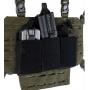 Trojité pouzdro na zásobníky M4 na suchý zip MilTec (134963) Black