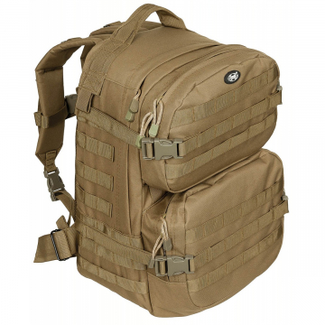 Batoh MFH US Assault II / 40L / 30x48x27cm Coyote Tan