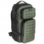 Batoh MFH Assault-Travel Laser / 30L / 23x44x18cm Black-OD green