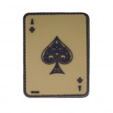 Nášivka na suchý zip 101 Inc. Ace of Spades Green / 60x80mm