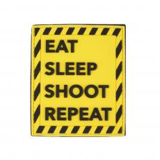 Nášivka na suchý zip 101 Inc. Eat Sleep Shoot Repeat / 83x69mm