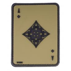 Nášivka na suchý zip 101 Inc. Ace Of Diamonds -  Green / 60x80mm